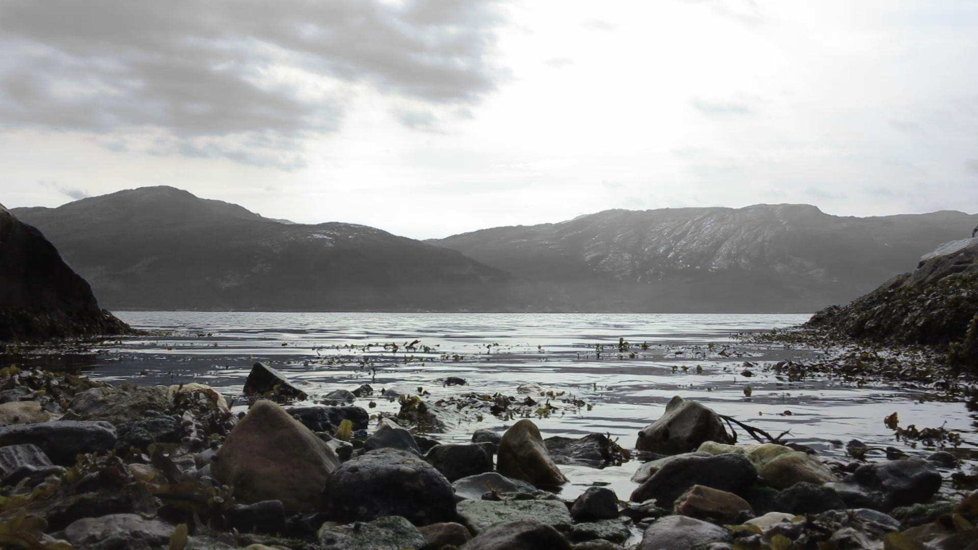 "Filmstill of the short film ""Tidevan"", Hardangerfjord, KH Messen, Norway (2019)"