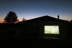 "Outside viewing on large scale of my short film ""Tempestade (Portugal)"", Fundacao Obras, Portugal (2016)"